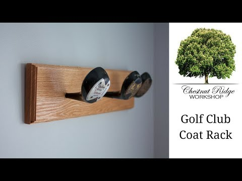 DIY Golf Club Coat Rack - How To Build - Woodworking