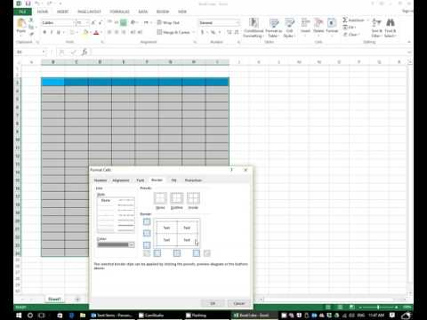 How to change the color of border in excel