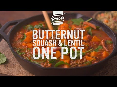 Butternut Squash and Lentil One Pot with Bacon | Homemade in 20mins