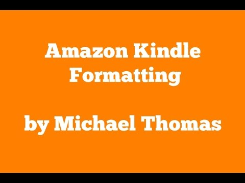 Format Table of Contents for Amazon Kindle eBook