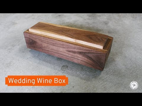 Wedding Box - Wine & Letter Box | Sentimental Gift by Scott Mathson, Whiskey Wood Creations
