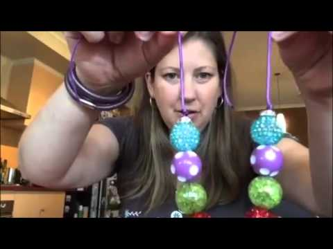 Bubblegum Bead Cord Necklace with Clasps