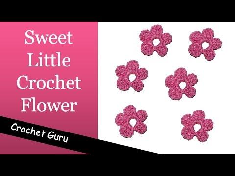 Crochet Flower Pattern - Sweet Little Flower