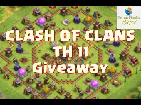Giveaway account clash of clans town hall 11
