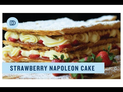 Napoleon Cake: Millefeuille with Strawberries