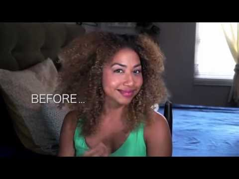 How to cut trim curly natural hair into long layers for hair growth. ( DIY )
