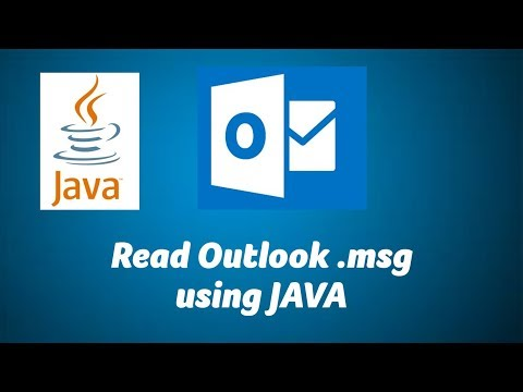 Read Outlook .msg file using JAVA