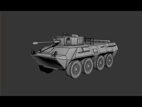 Modeling BTR 90 3ds max tutorial final part