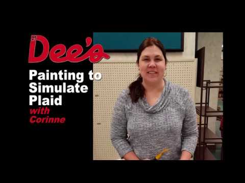 Simulating Plaid with Paint - with Corinne