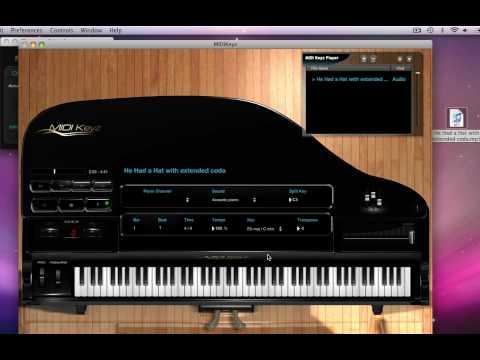 MIDIKeyz Keyboard and Piano Instructional Software Demo Tutorial - Playing Audio Files