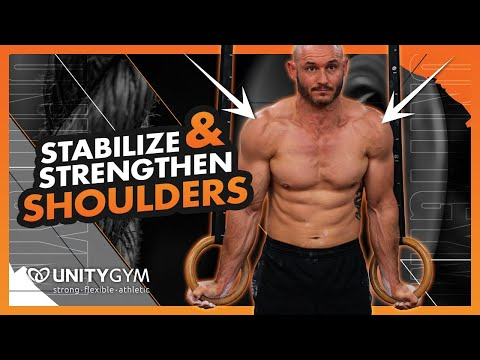 Improve Posture & Shoulder Strength   Gymnastics Exercise   FMS Static Ring Hold Palms Fwd TUTORIAL
