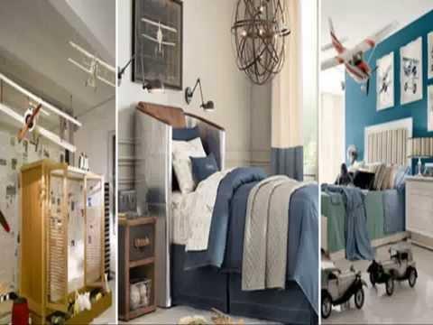 Airplane bedroom interior decorations inspiration