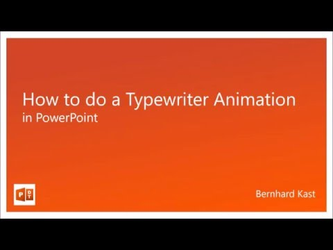 How to do a Typewriter Animation in PowerPoint