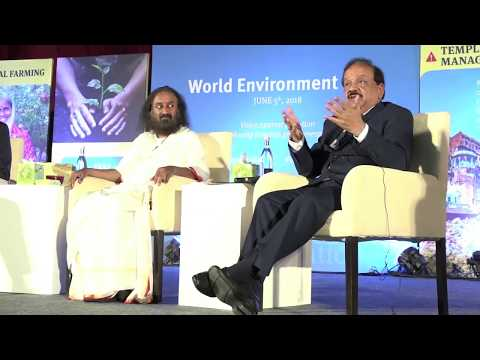 Dr Harsh Vardhan participates in an interactive session by Art of Living on World Environment Day