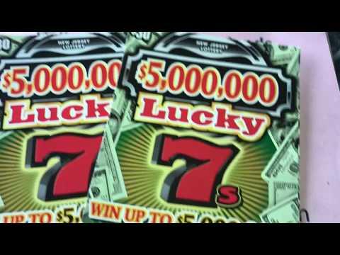 🍀NJ LOTTERY 2-$5,000,000 LUCKY 7s $30 DOLLARS TICKETS🍀