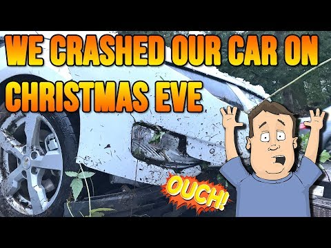 Chevy Volt Crashed Christmas Eve Wife & Kid Inside... Ouch...