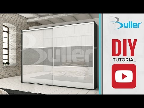 How to install sliding Mirror and Glass doors with Placard from Buller
