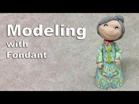 How to Make a Grandma's Face with Fondant
