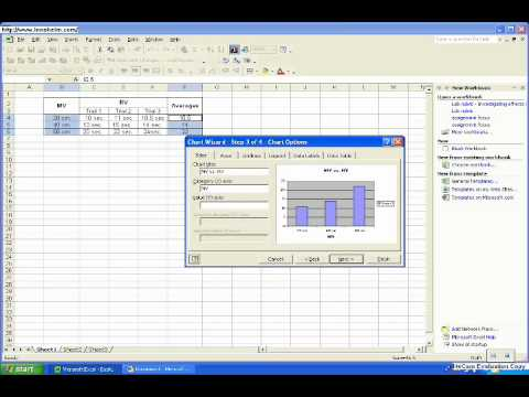 Making a Data Table in Excel 2003.wmv