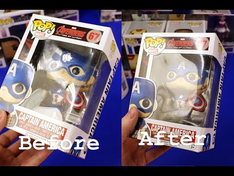 How To Repair & Clean Scratches Scrapes & Stickers On Funko Pop Vinyl Figures Boxes