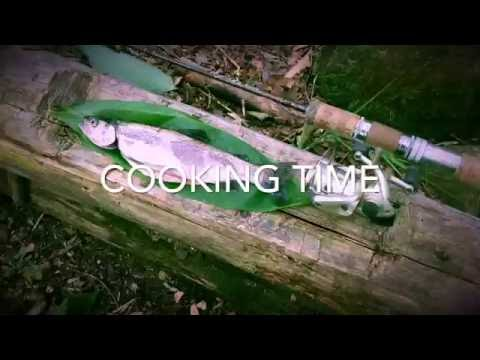 A day out, fishing and cooking trout in Hokkaido, Japan.