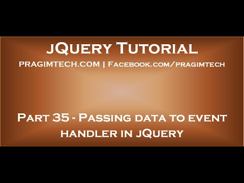Passing data to event handler in jQuery