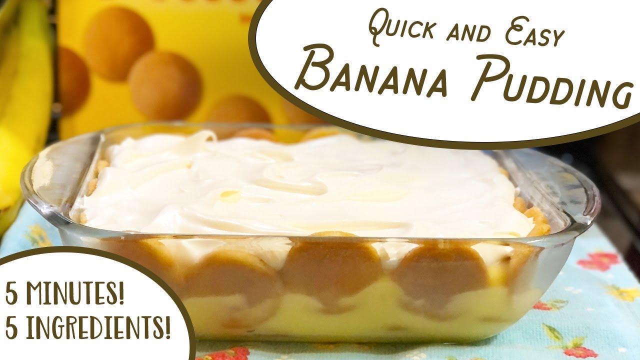 Quick & Easy Banana Pudding   No bake pudding, vanilla wafers, bananas & #CoolWhip #southernrecipes