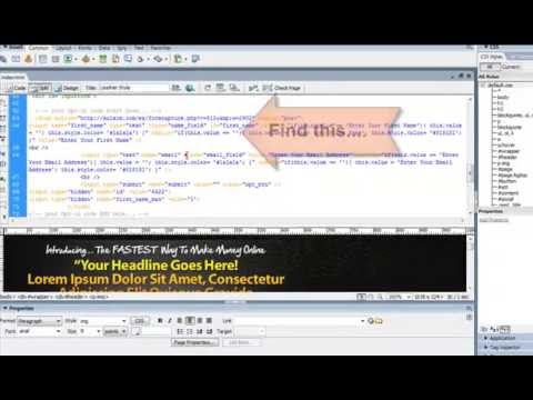 How to set up a squeeze page, Landing Page, Wordpress, Html, Joomla, Squeeze Page Tutorial,