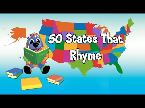 50 States That Rhyme Song- Fun, Learning Video & Sing Along: Teaching Children the U.S. Map