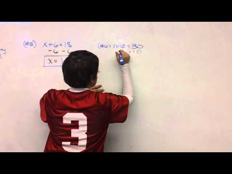 Student Example of Solving an Equation