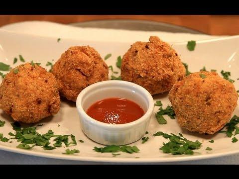 Deep Fried Mac and Cheese Balls Recipe - Slaters 50 50 - Bigmeatsunday