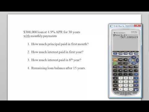 TI 83 Loan Amortization