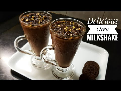 Oreo Milkshake recipe/ Make Oreo Milkshake in 2 minutes/ Desert/ Oreo Milkshake without Icecream