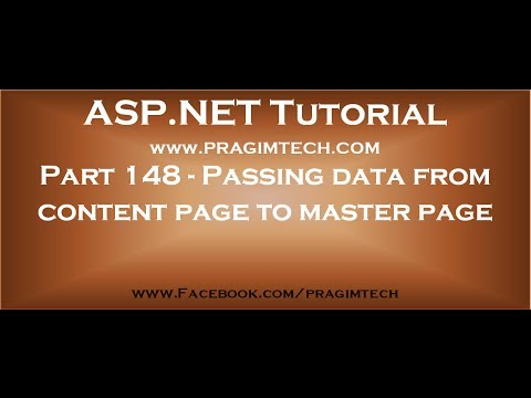 Part 148   Passing data from content page to master page in asp net