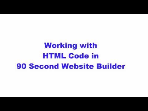 Working with HTML Code in 90 Second Website Builder