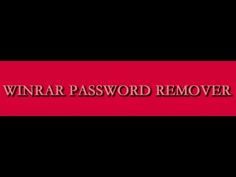 HOw to Remove Winrar Password 100% 2017