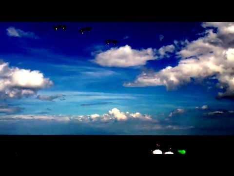 Synchronised kite flying
