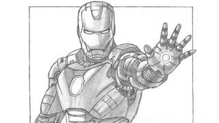 how to draw ironman step by step full body
