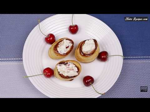 Cherry Filled Puff Pastry Cups