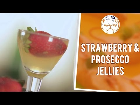 Easy to Make Strawberry & Prosecco Jellies Recipe by Chef Michael Swamy