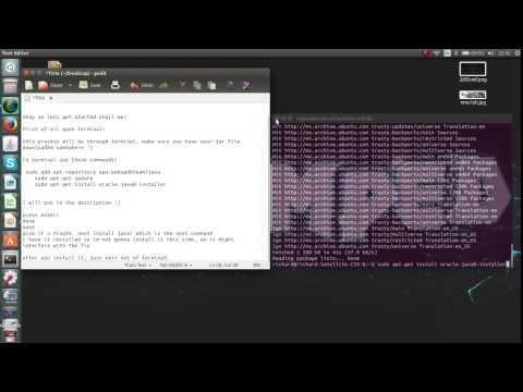 How to run a jar file on Ubuntu 14.04, 14.10 (RSPS Black Screen Fix)