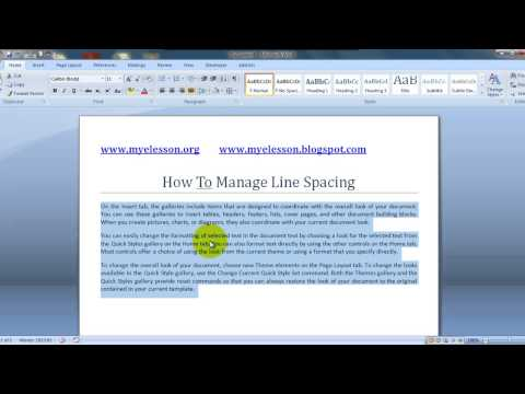 MS Word:Manage Line Spacing Hindi