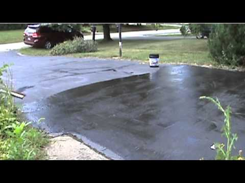 Driveway Repair - Patching and Filling Cracks and Sealing My Driveway
