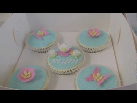 Mother's Day Cupcakes - Tea Pot & Tea Cups - How to tutorials on my channel