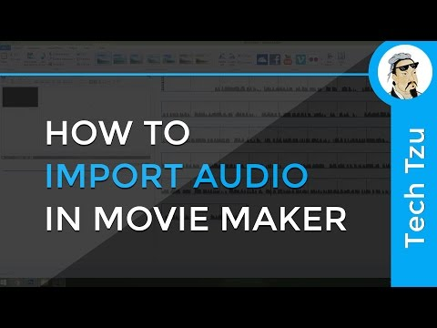 How to import audio in movie maker