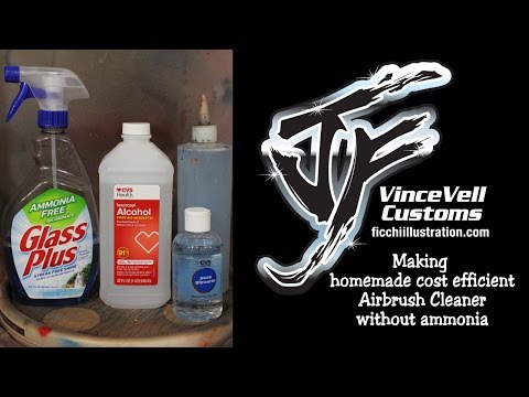 Making homemade cost efficient Airbrush Cleaner without ammonia