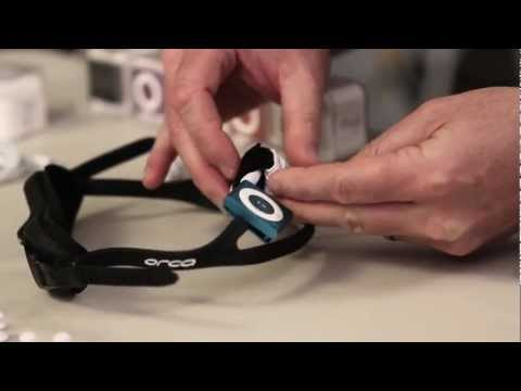 Attaching Waterproof AudioFlood Shuffle and Headphones to Swim Goggles