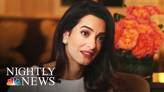 Amal Clooney Discusses Latest Human Rights Battle (Exclusive) | NBC Nightly News