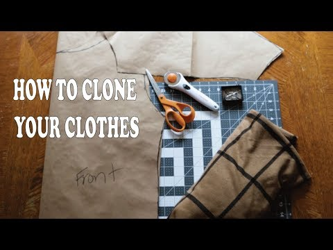 HOW TO CLONE YOUR CLOTHES! ( Make patterns from your clothes ) | MYNAMEISTREVOR