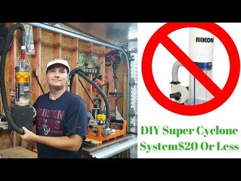 DIY Super Quiet Cyclone Dust Collection